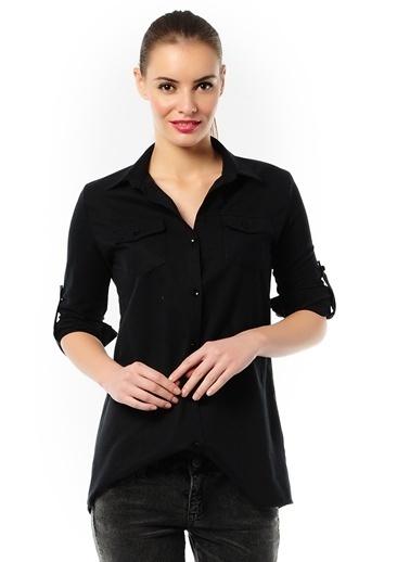 T-Box Kareli Gömlek Siyah